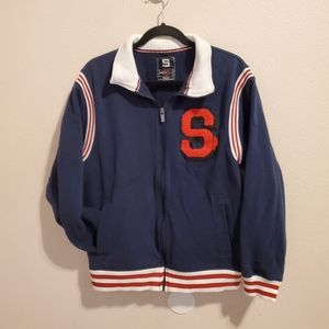 VintageSouth pole blue & white red letter jacket